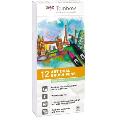 Tombow Pinselstift ABT Dual Brush 12 St./Pack.