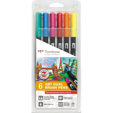 Tombow Pinselstift ABT Dual Brush 6 St./Pack.