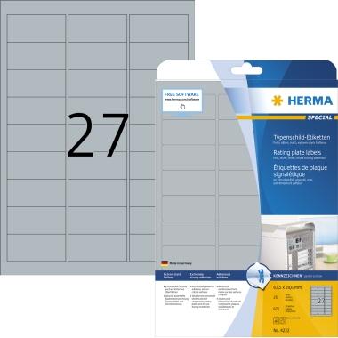 HERMA Typenschildetikett SPECIAL 63,5 x 29,6 mm (B x H)