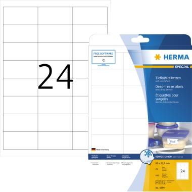 HERMA Tiefkühletikett SPECIAL 66 x 33,8 mm (B x H)