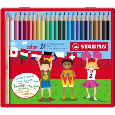 STABILO® Farbstift color Metalletui 24 St./Pack.