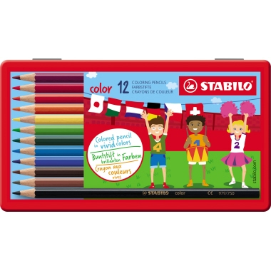 STABILO® Farbstift color Metalletui 12 St./Pack.