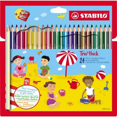 STABILO® Farbstift Trio® inkl. Spitzer 24 St./Pack.