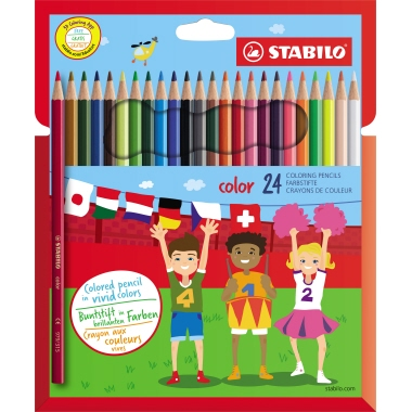STABILO® Farbstift color Kartonetui 24 St./Pack.