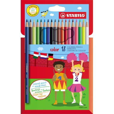 STABILO® Farbstift color 18 St./Pack.