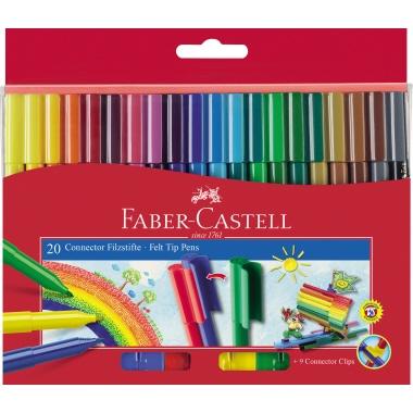 Faber-Castell Fasermaler CONNECTOR 20 St./Pack.