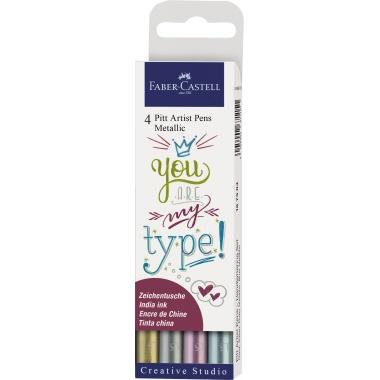 Faber-Castell Tuschestift Pitt Artist Pen 4 St./Pack.