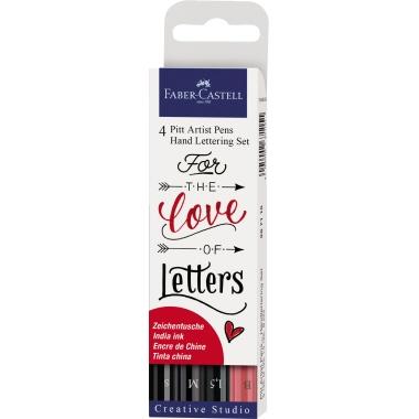 Faber-Castell Tuschestift Pitt Artist Pen Hand Lettering 4 St./Pack.