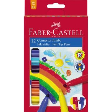 Faber-Castell Fasermaler CONNECTOR JUMBO 12 St./Pack.
