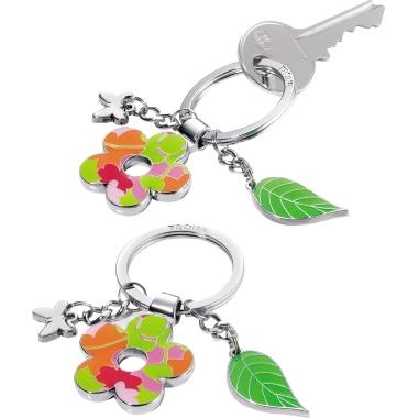 TROIKA® Schlüsselanhänger FLOWER POWER