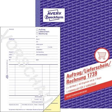 Avery Zweckform Auftrag/Lieferschein/Rechnungsformular