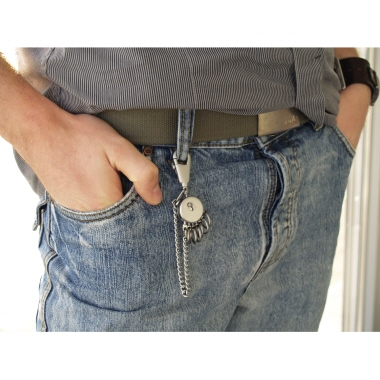 TROIKA® Schlüsselanhänger PATENT Chain