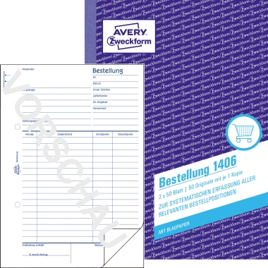 Avery Zweckform Bestellformular