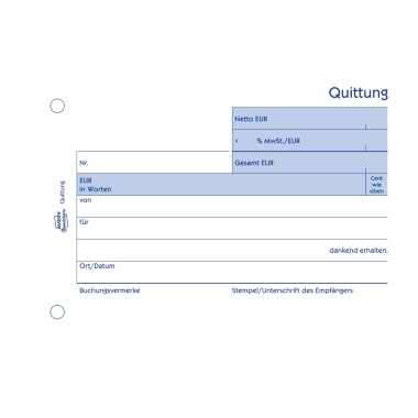 Avery Zweckform Quittung