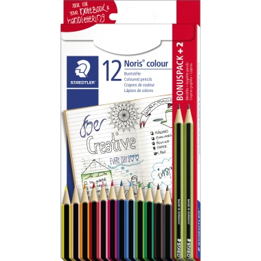 STAEDTLER® Farbstift Noris® colour 185 inkl. 2 Bleistifte Noris eco 12 St./Pack.