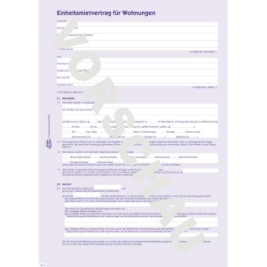 Avery Zweckform Mietvertrag DIN A4