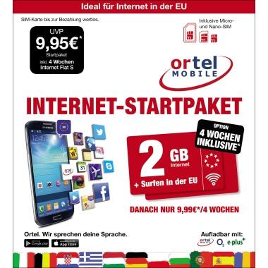 Prepaid Karte Internet.Ortel Prepaid Karte Internet Startpaket Laberenz Onlineshop