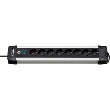 brennenstuhl® Steckdosenleiste Premium-Alu-Line 8 Steckdosen