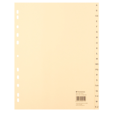 Soennecken A-Z Register  24 x 29,7 cm (B x H)