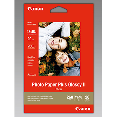 Canon Fotopapier Plus Glossy II  13 x 18 cm (B x H) 20 Bl./Pack.