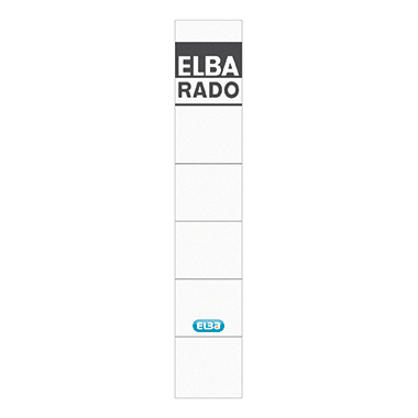 ELBA Ordnerrückenetikett schmal/kurz schwarz
