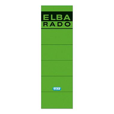ELBA Ordnerrückenetikett  breit/kurz schwarz
