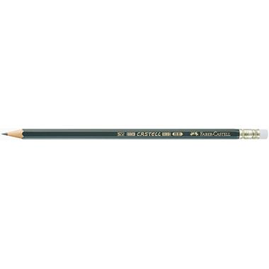 Faber-Castell Bleistift CASTELL® 9000  mit Radierer