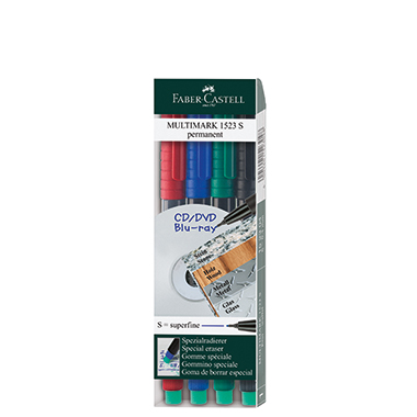 Faber-Castell CD/DVD Marker MULTIMARK 1523  4 St./Pack.