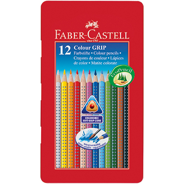 Faber-Castell Farbstift Colour GRIP  Metalletui 12 St./Pack.