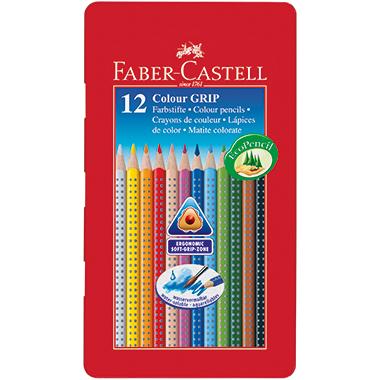Faber-Castell Farbstift Colour GRIP  Metalletui 12 St./Pack.