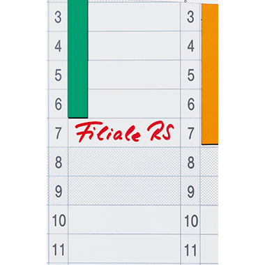 Franken Datumstreifen  14 x 42 cm (B x H)