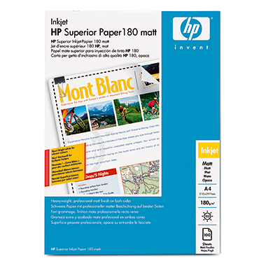 HP Inkjetpapier Professional  DIN A4 100 Bl./Pack.