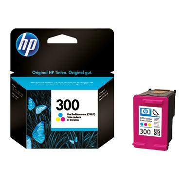 HP Tintenpatrone 300 cyan/magenta/gelb