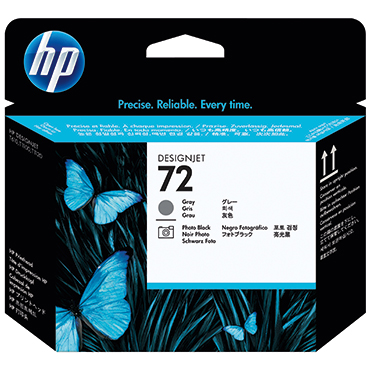 HP Druckkopf 72  fotoschwarz/grau