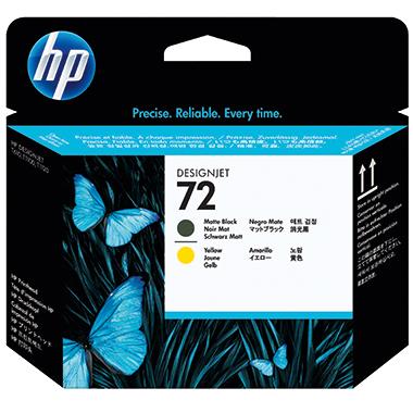 HP Druckkopf 72  schwarz matt/gelb