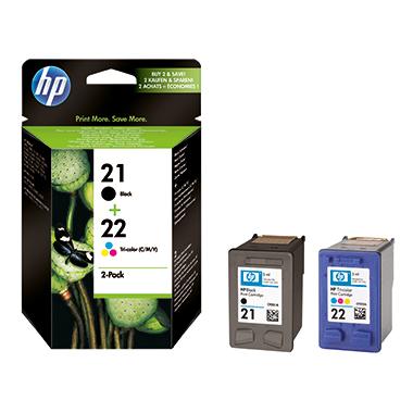 HP Tintenpatrone 21+22