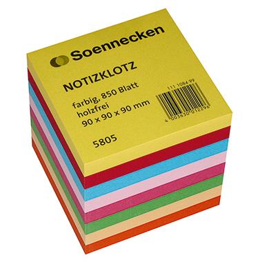Soennecken Zettelklotz farbig sortiert