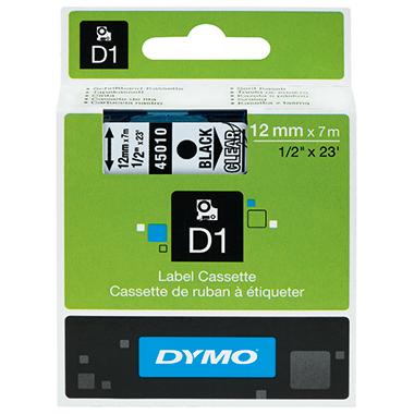 DYMO® Schriftbandkassette D1 12 mm x 7 m (B x L)  schwarz