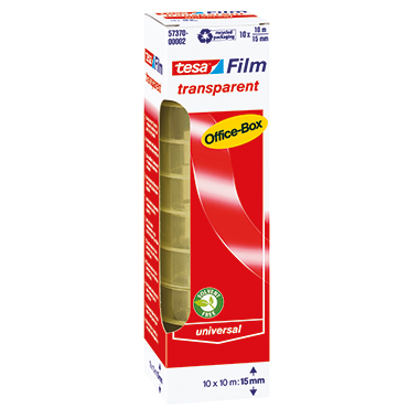 tesa® Klebefilm tesafilm® transparent Office-Box  10 Rl./Pack.