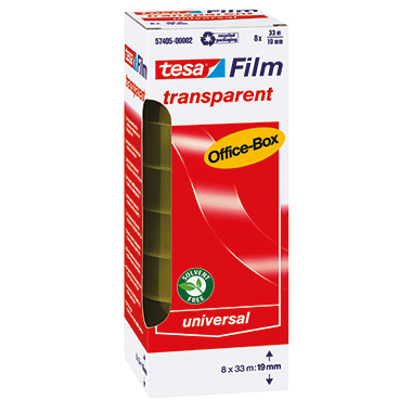 tesa® Klebefilm tesafilm® transparent Office-Box 25 mm 8 Rl./Pack.