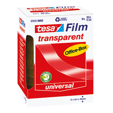 tesa® Klebefilm tesafilm® transparent Office-Box  76 mm 10 Rl./Pack.