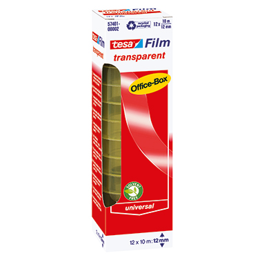 tesa® Klebefilm tesafilm® transparent Office-Box  12 Rl./Pack.