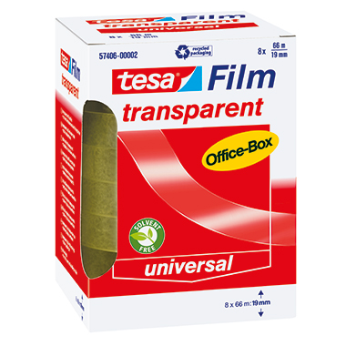 tesa® Klebefilm tesafilm® transparent Office-Box  8 Rl./Pack.