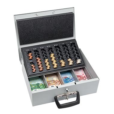 WEDO® Geldkassette Universa  8 Fächer für Hartgeld