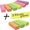 Post-it® Haftstreifen Page Marker Promotion  6 Block/Pack. + 3 Blöcke gratis A010205Y