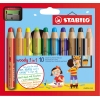 STABILO® Aquarellstift woody 3 in 1  inkl. Spitzer 10 St./Pack. A010237C