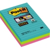 Post-it® Haftnotiz Super Sticky Notes Miami Collection  101 x 152 mm (B x H) liniert A010477J