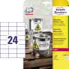 Avery Zweckform Folienetikett 70 x 37 mm (B x H) A011139R