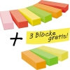 Post-it® Haftstreifen Page Marker Promotion 6 Block/Pack. + 3 Blöcke gratis A012290Q