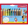 STABILO® Aquarellstift woody 3 in 1 inkl. Spitzer 10 St./Pack. A012657V